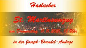 St. Martinsfeier am 11.11. in Haslach